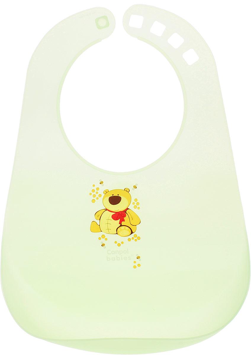 Canpol Babies Нагрудник пластиковый цвет зеленый
