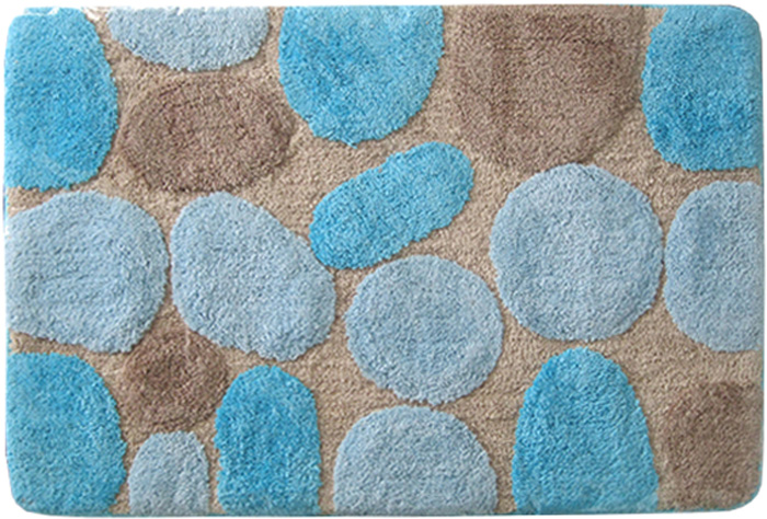 """Коврик для ванной комнаты Dasch """"Лора"""", цвет: синий, 60 х 100 см"""
