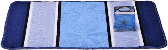 """Коврик для ванной комнаты Dasch """"Ромашка"""", цвет: синий, голубой, 50 х 80 см"""