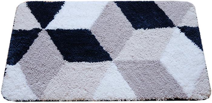"""Коврик для ванной комнаты Dasch """"Орнелла"""", цвет: серый, синий, 50 х 80 см"""