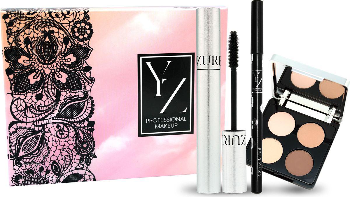 YZ Подарочный набор: тушь для ресниц Studio, карандаш для глаз, тени для век Ombres Soyeu