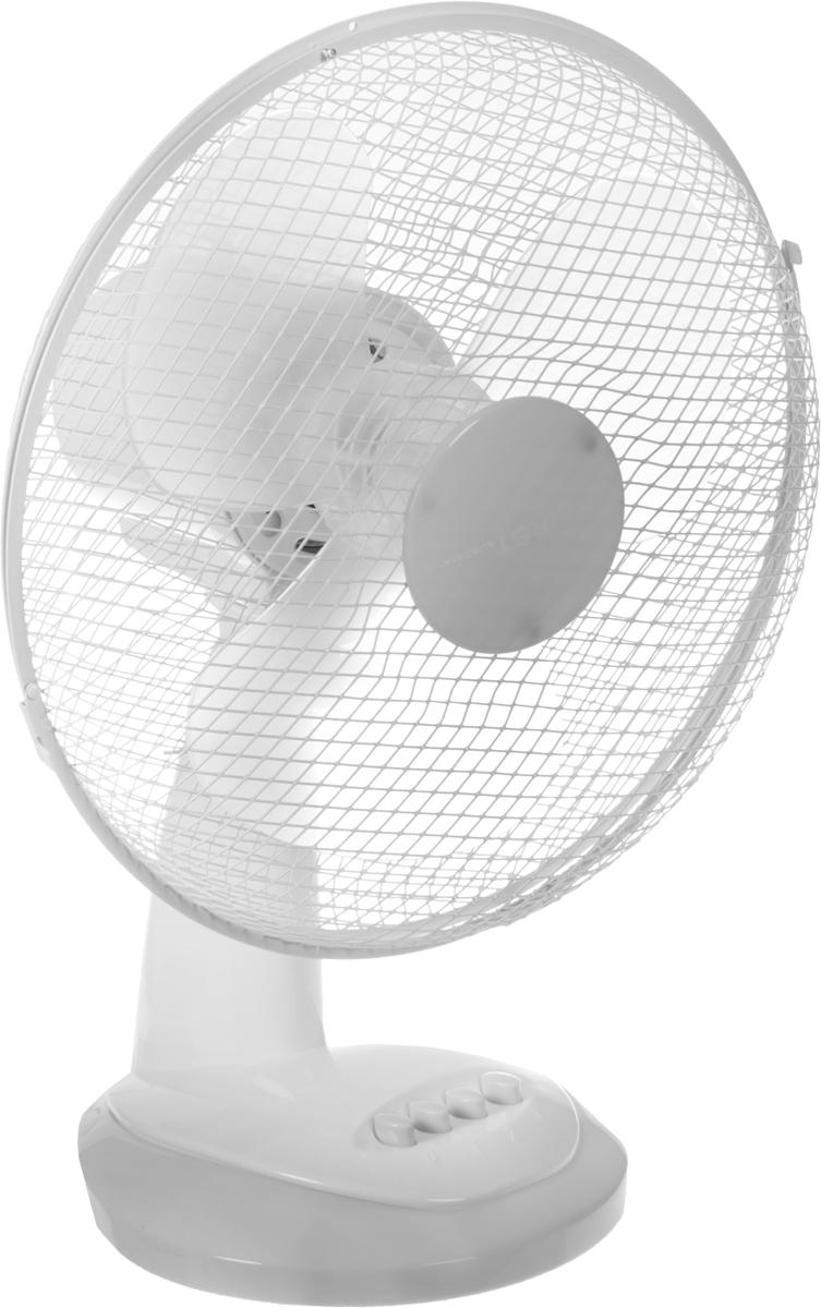 Настольный вентилятор First FA-5551-GR, белый серый вентилятор настольный first fa 5551 bu