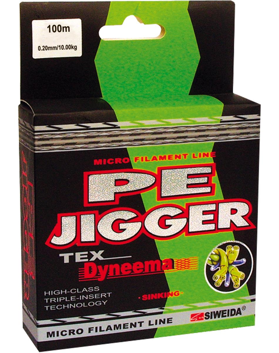 Шнур плетеный SWD Pe Jigger, цвет: зеленый, длина 100 м, сечение 0,2 мм, нагрузка 10 кг