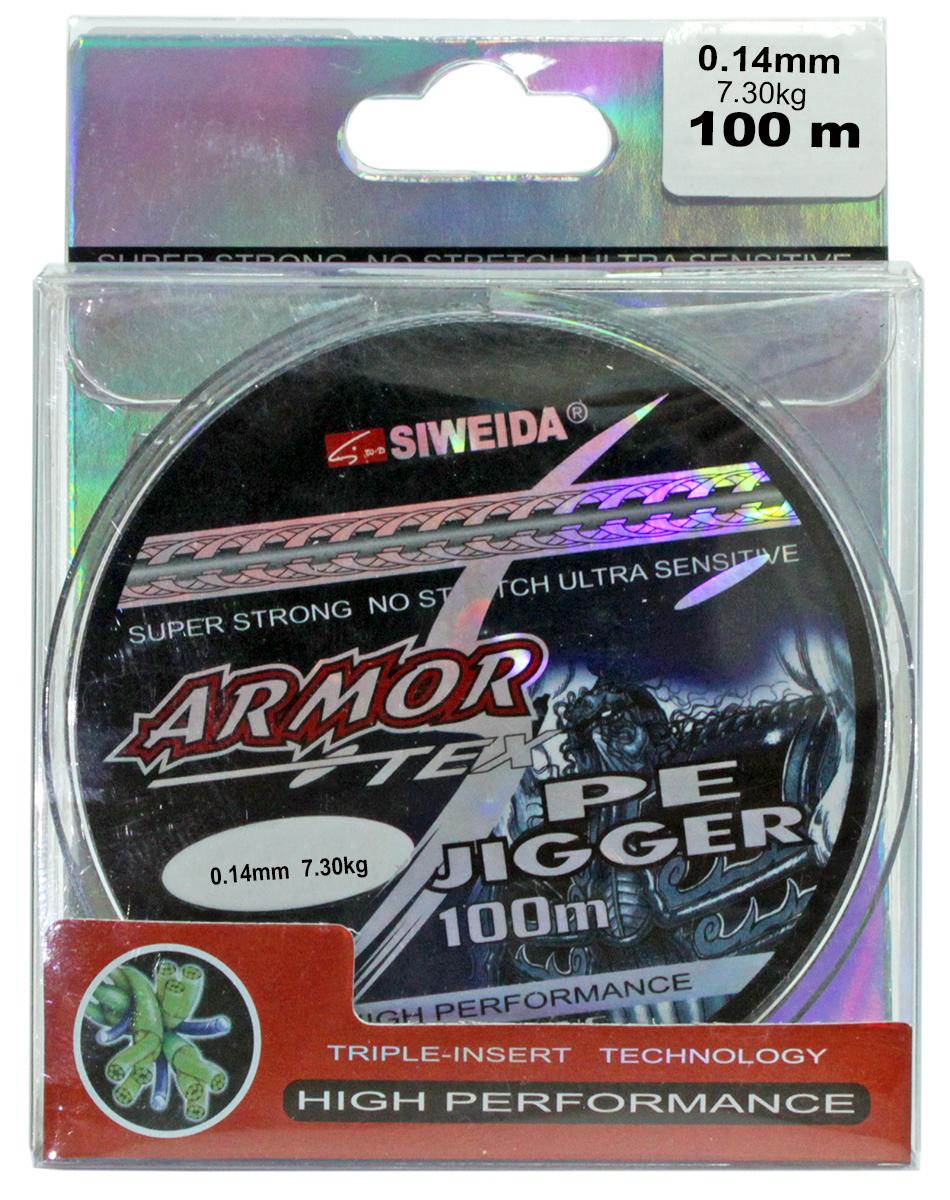 Леска плетеная SWD Armor 0,14 100м (7,30кг, серая)