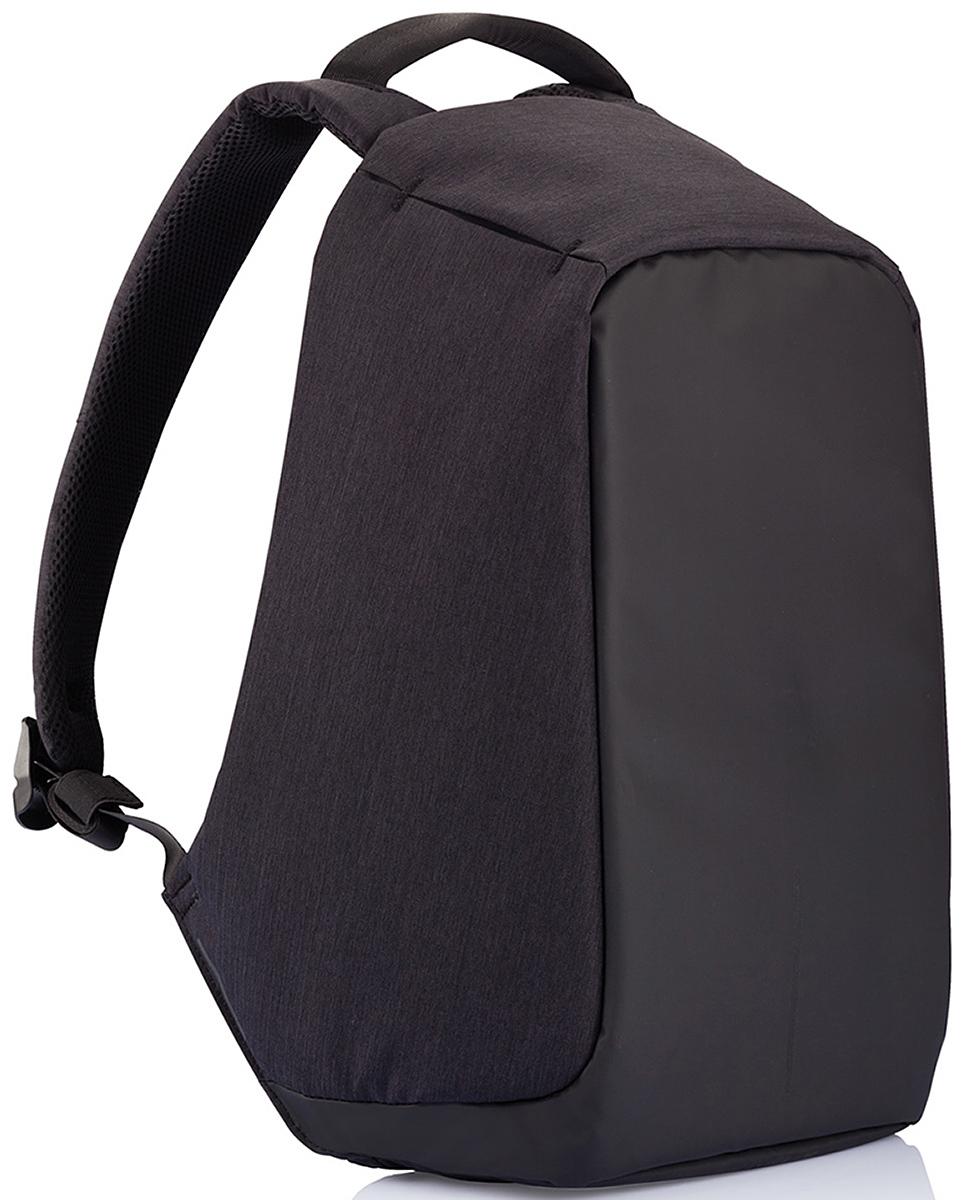 Рюкзак для ноутбука XD Design Bobby до 15,6, цвет: черный с темно-синей подкладкой, 13 л. Р705.545 рюкзак для ноутбука xd design bobby compact до 14 цвет темно серый темно синий 11 л