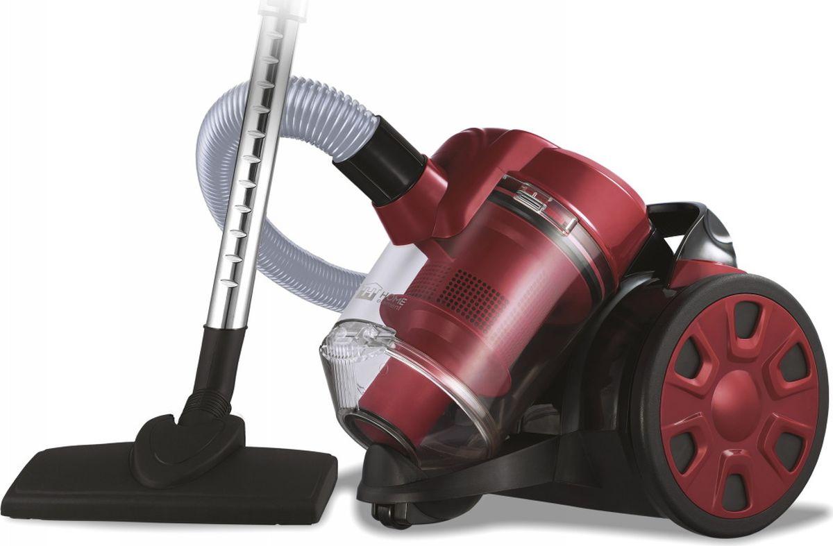 Бытовой пылесос Home Element HE-VC1802, черный, бургунди Home Element