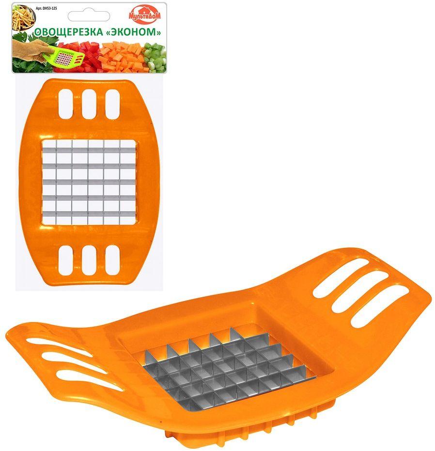 Фрукто-овощерезка Мультидом Эконом, цвет: оранжевый продольная овощерезка gefu продольная овощерезка