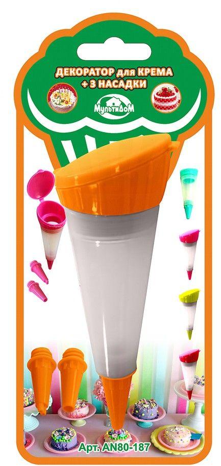 """Шприц кондитерский """"Мультидом"""", цвет: оранжевый, 50 мл"""