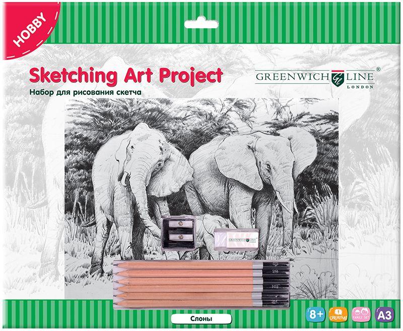 Greenwich Line Набор для рисования Слоны