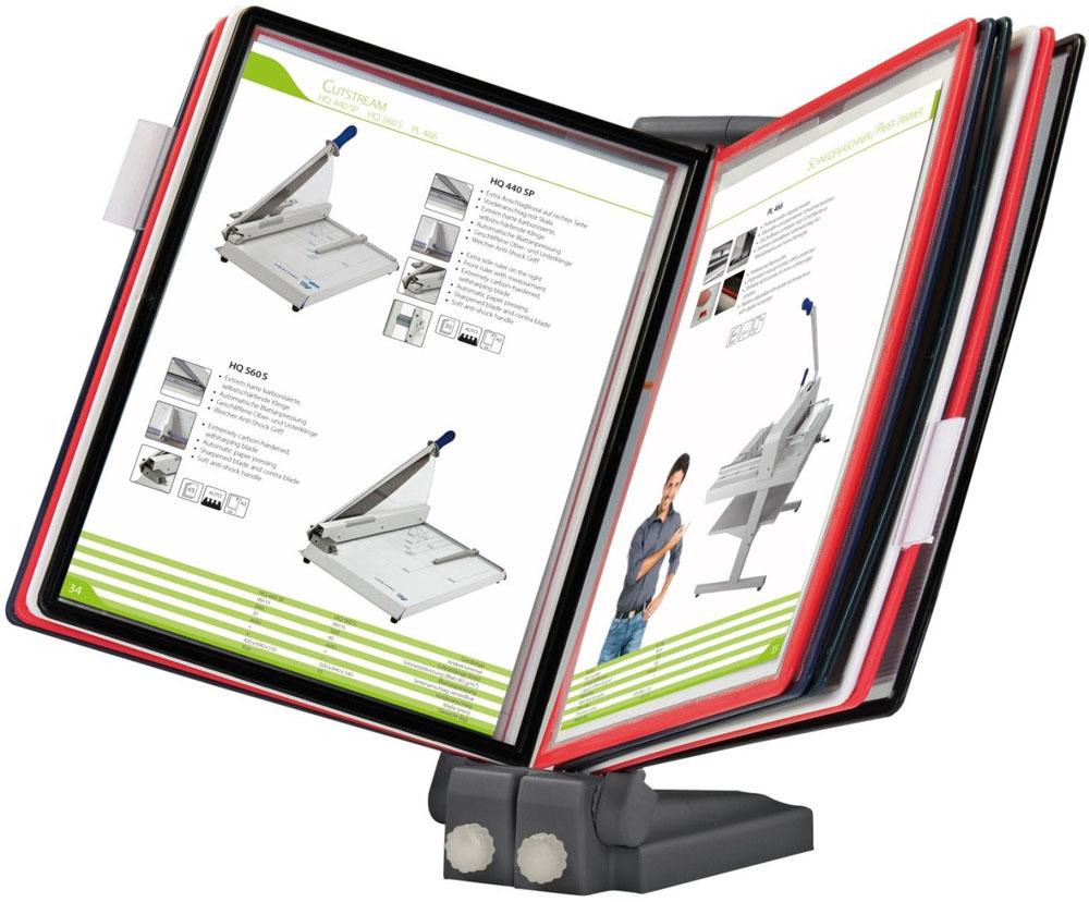 Настольная демосистема Office Force Stationery Qulck-Vlew Information Display А4, плоская подставка цена и фото