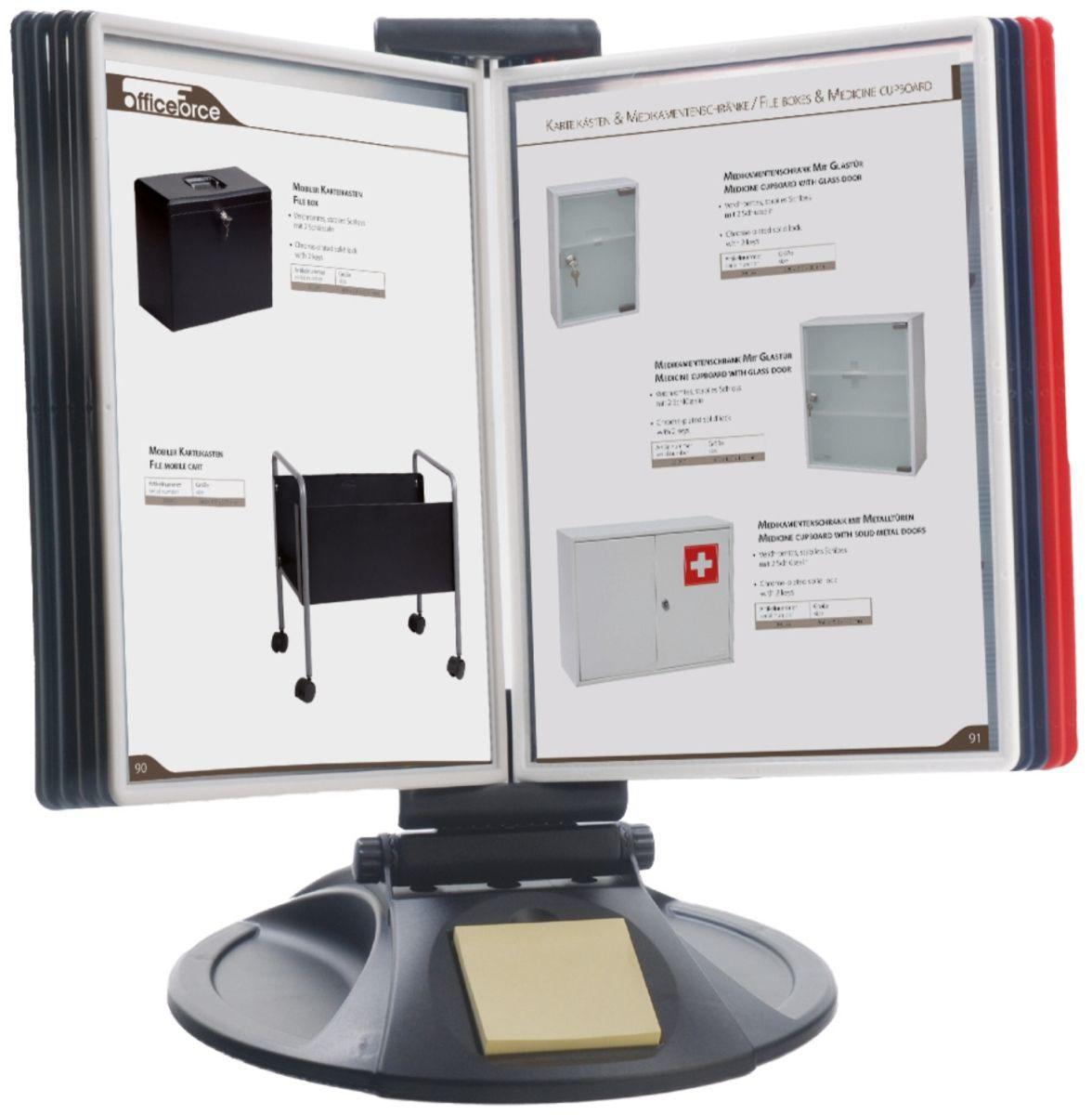Office Force Stationery Настольная демосистема Qulck-Vlew Information Display А4 круглая подставка цена и фото
