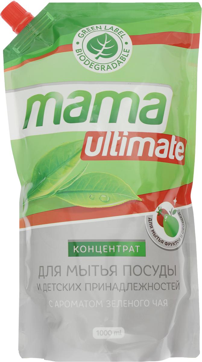 """Концентрат для мытья посуды и детских принадлежностей """"Mama Ultimate"""", с ароматом зеленого чая, 1 л"""