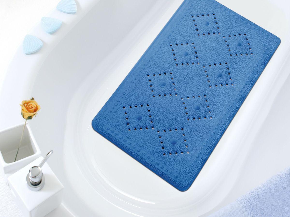 Коврик в ванну Bacchetta, цвет: синий, 36 х 71 см коврик в ванну bacchetta fiore цвет синий 36 х 71 см
