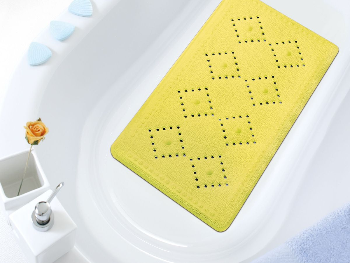 "Коврик в ванну ""Bacchetta"", цвет: желтый, 36 х 71 см"