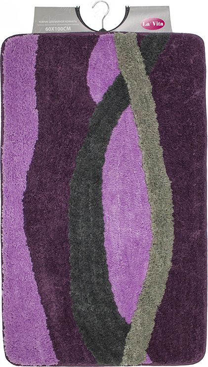 """Коврик для ванной Dasch """"Альбина"""", цвет: фиолетовый, лиловый, 60 х 100 см"""