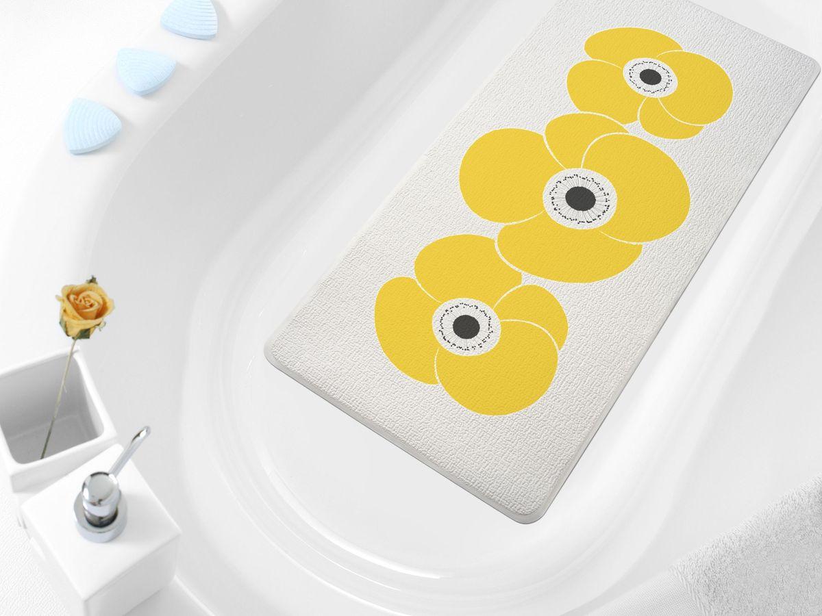 Коврик в ванну Bacchetta Petunia, цвет: оранжевый, 36 х 71 см коврик в ванну bacchetta fiore цвет синий 36 х 71 см
