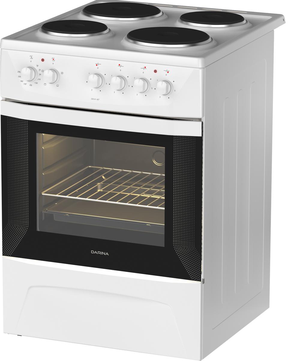 Плита Darina 1D EM141 404 W, электрическая, белый darina s em341 404 w плита электрическая