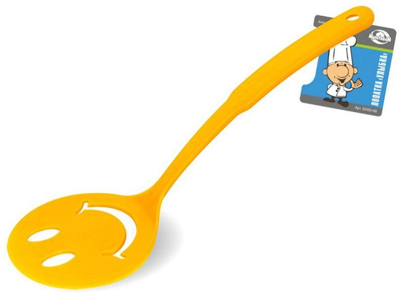 Лопатка Мультидом Улыбка, цвет: желтый лопатка кулинарная мультидом софт an50 1