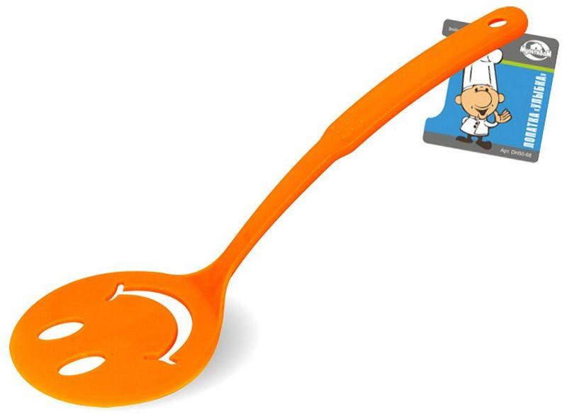 Лопатка Мультидом Улыбка, цвет: оранжевый лопатка кулинарная мультидом софт an50 1
