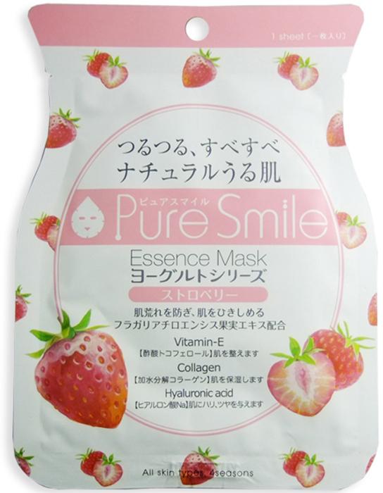 """Pure Smile """"Yogurt Mask"""" Выравнивающая тон кожи маска для лица на йогуртовой основе с экстрактом клубники, 23 мл"""