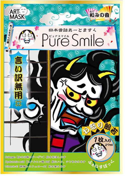 Pure-Smile-Art-Mask-Koncentrirovannaya-uvlazhnyayuwaya-maska-dlya-lica-s-yekstraktami-cvetov-kamelii-s-kollagenom-gialuronovoj-kislotoj-i-vitaminom-E-