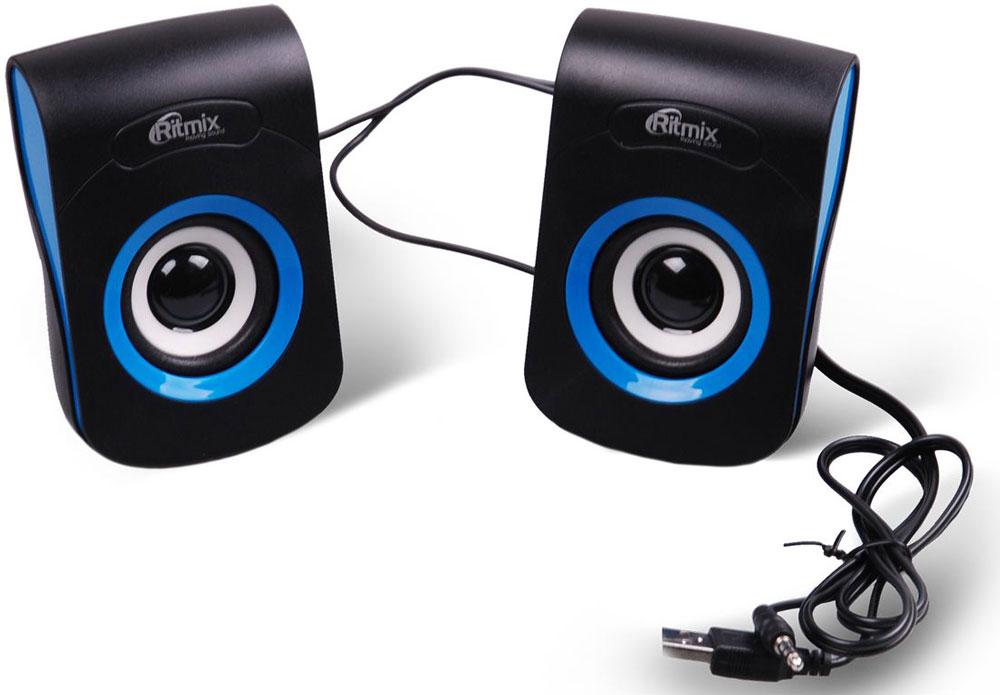Компьютерная акустика Ritmix SP-2060, Black Blue компьютерная акустика genius sp u120 31731057100