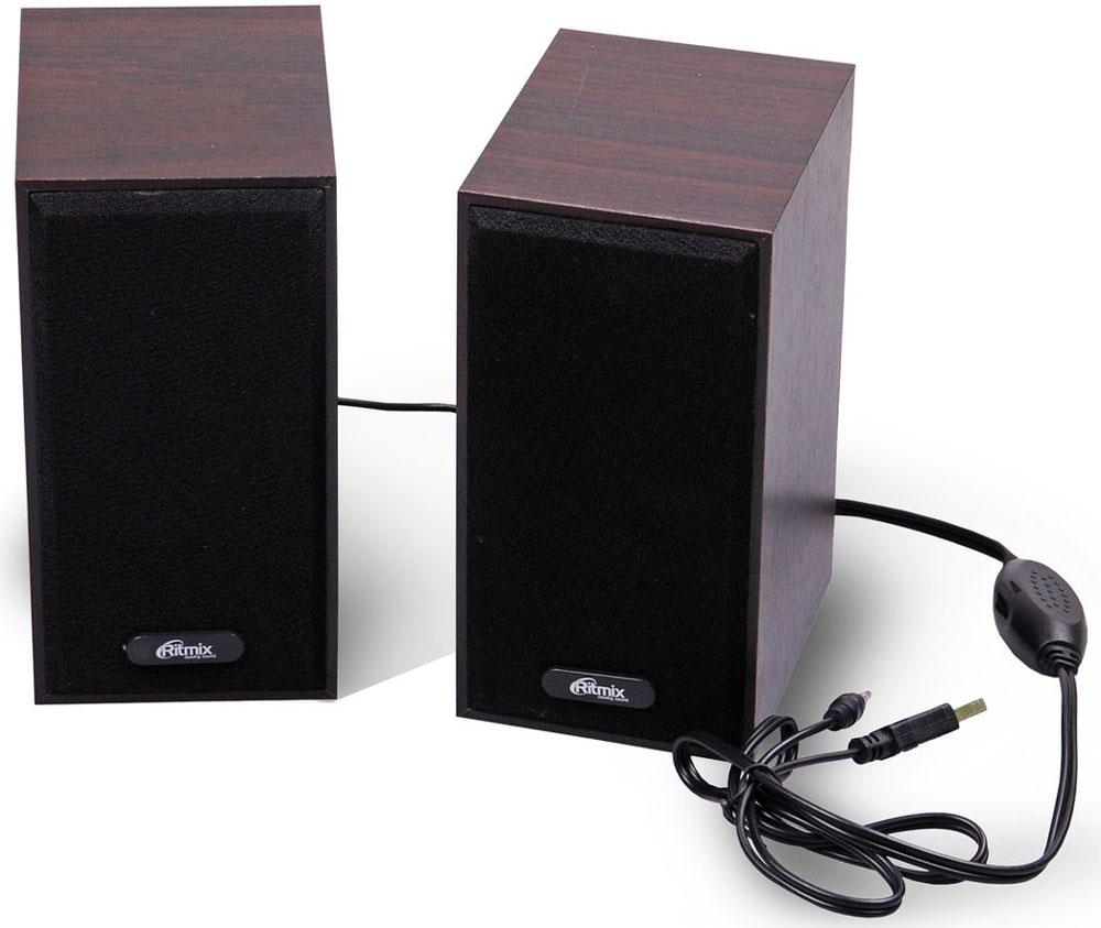 Компьютерная акустика Ritmix SP-2011w, Dark Brown компьютерная акустика genius sp u120 31731057100