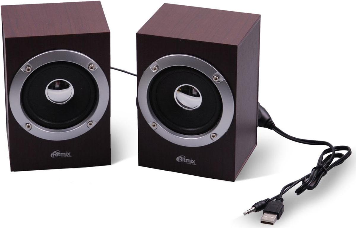 Компьютерная акустика Ritmix SP-2012w, Cherry компьютерная акустика genius sp u120 31731057100