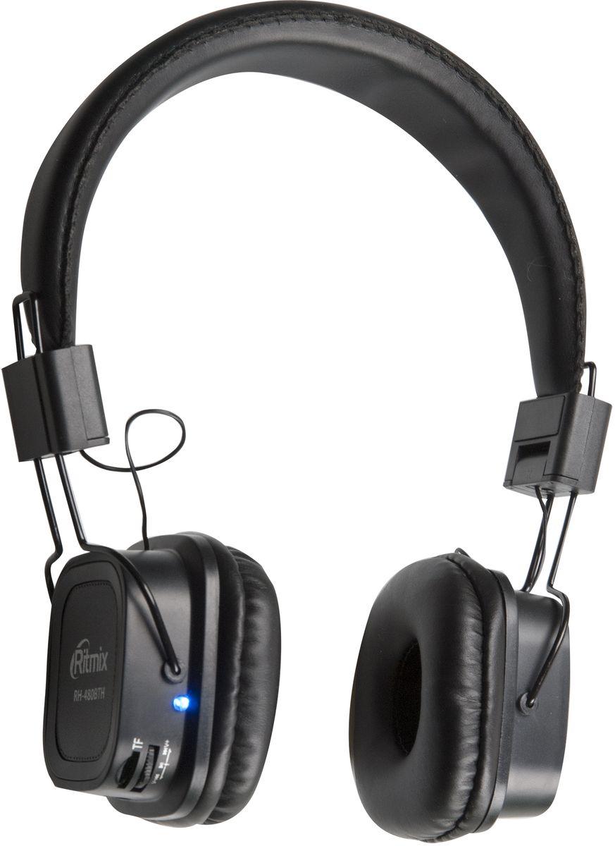 Беспроводные наушники Ritmix RH-480BTH, черный цена и фото