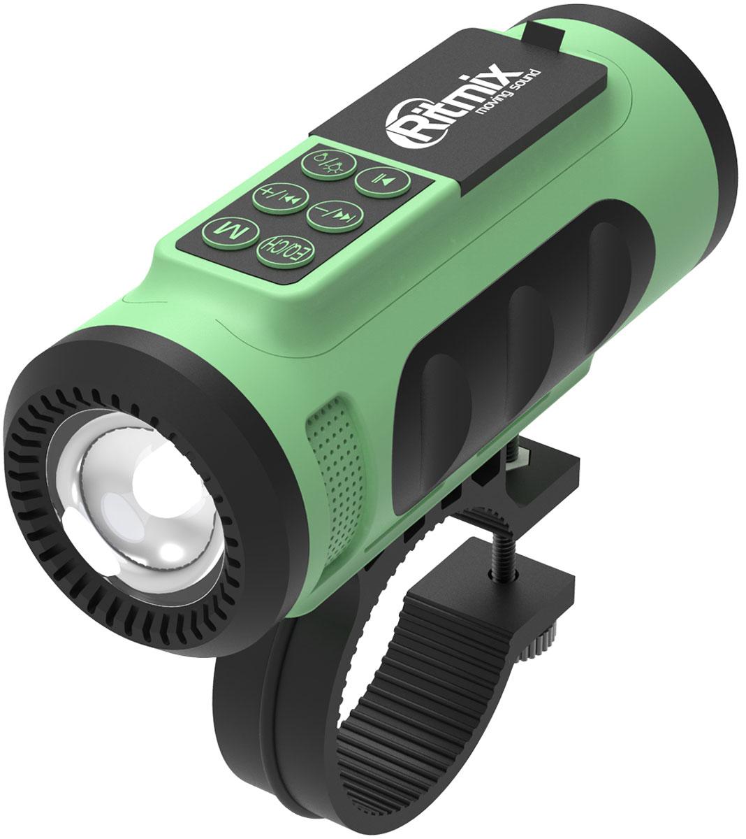 Беспроводная колонка Ritmix SP-520BC, Green Black