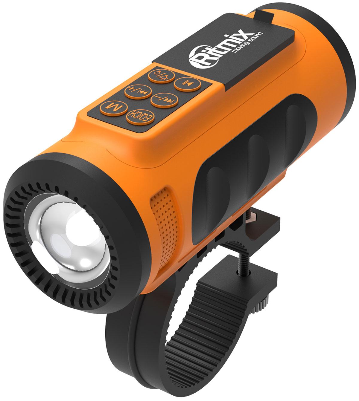 Беспроводная колонка Ritmix SP-520BC, Orange Black