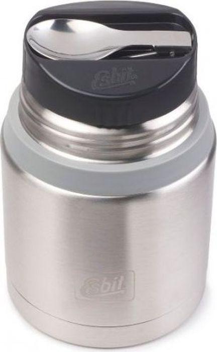Термос для еды Esbit FJSP, c ложкой, цвет: стальной, серый, 750 мл
