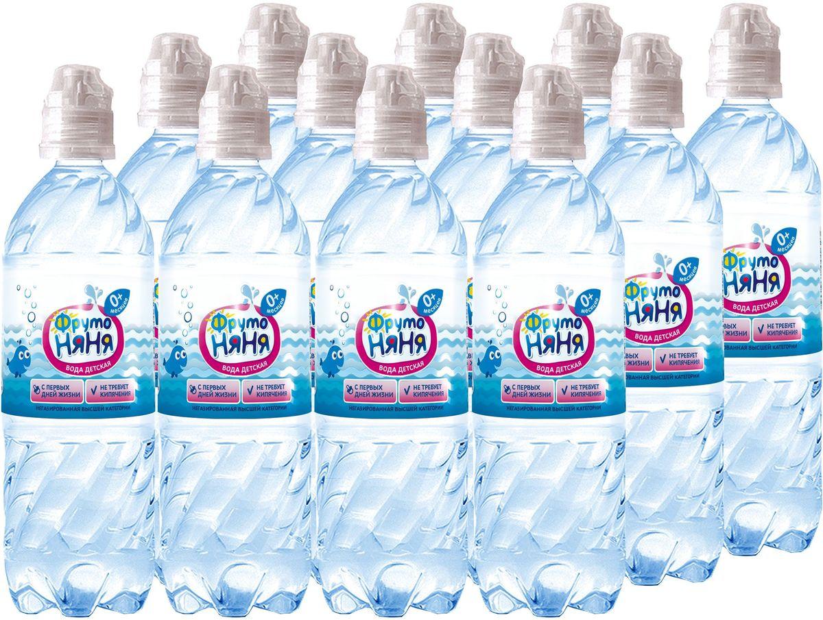 ФрутоНяня водаартезианская питьевая негазированная, 12 шт по 0,33 л вода сказочный лес питьевая детская 12 шт по 0 4 л