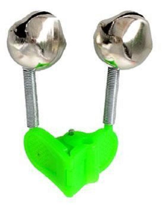 Сигнализатор поклевки AGP Бубенчик, с прищепкой, цвет: серый металлик, зеленый