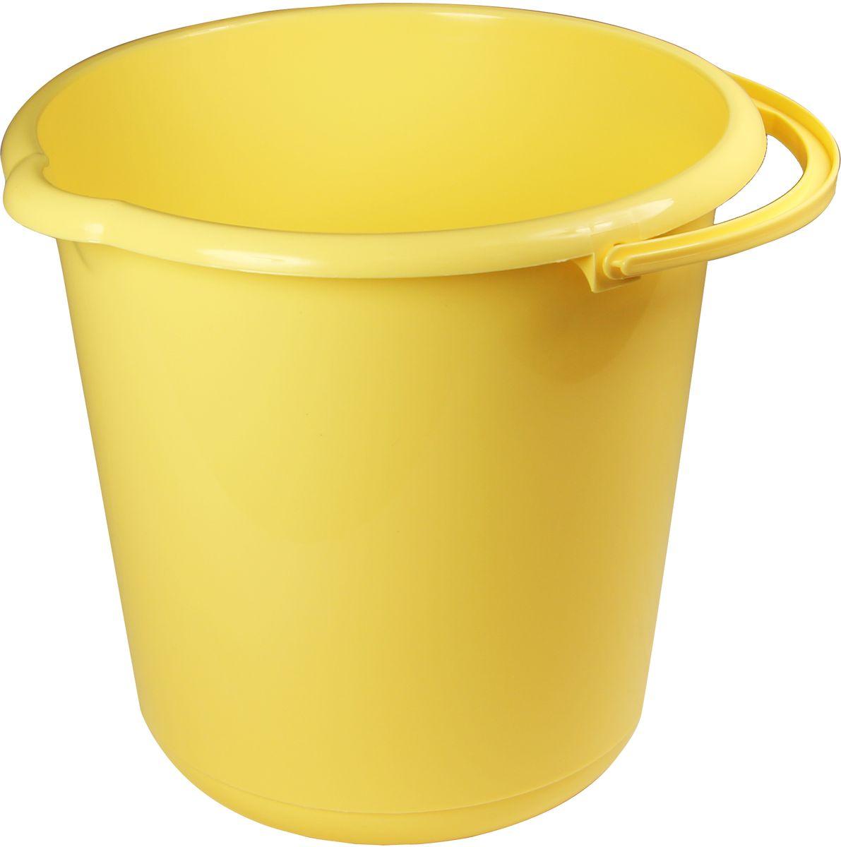 Ведро Idea, цвет: банановый, 5 л ведро idea цвет марморный 10 л