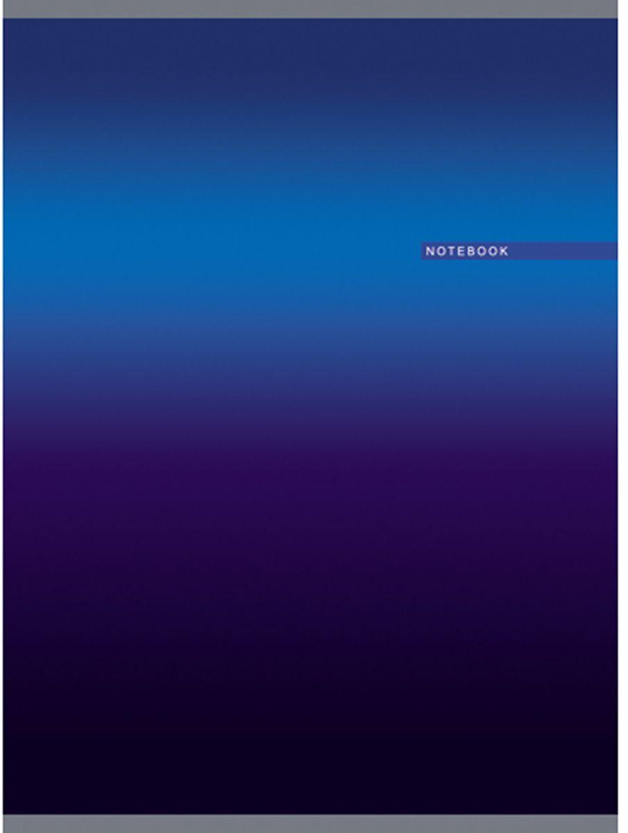 Канц-Эксмо Тетрадь Градиент 80 листов в клетку цвет синий формат А4 канц эксмо записная книжка офисный стиль office time 80 листов в клетку