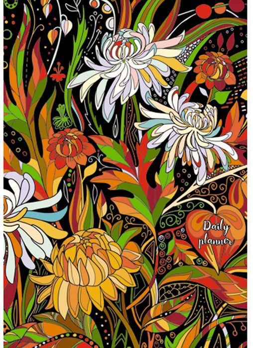 Канц-Эксмо Ежедневник Цветы Волшебная палитра недатированный 152 листа формат А5 недорого