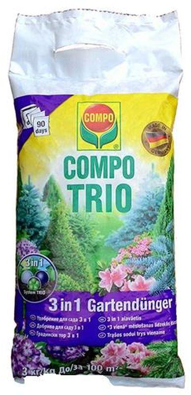 Удобрение для сада Compo Trio, 3 в 1, 3 кг удобрение для газона compo 2 кг