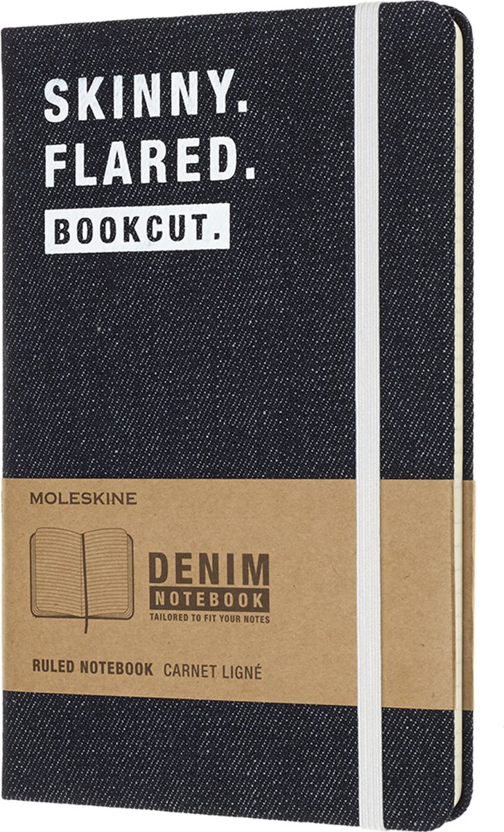 Moleskine Записная книжка Denim Skinny 120 листов в линейку цвет черный