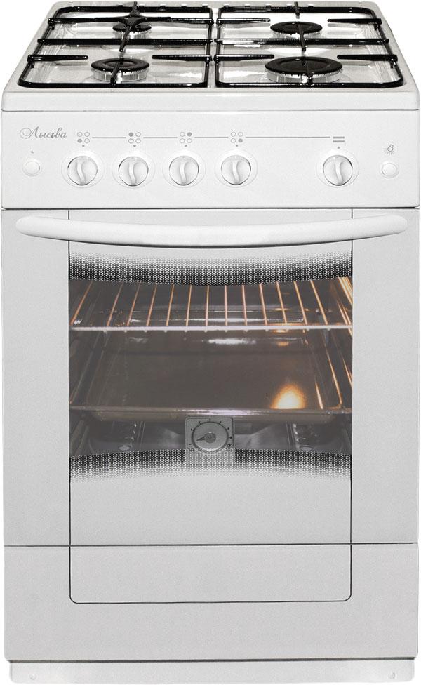 Лысьва ГП 400 М2С-2у плита газовая, цвет белый (стеклянная крышка) плита газовая лысьва гп 400 м2с 2у белый стеклянная крышка