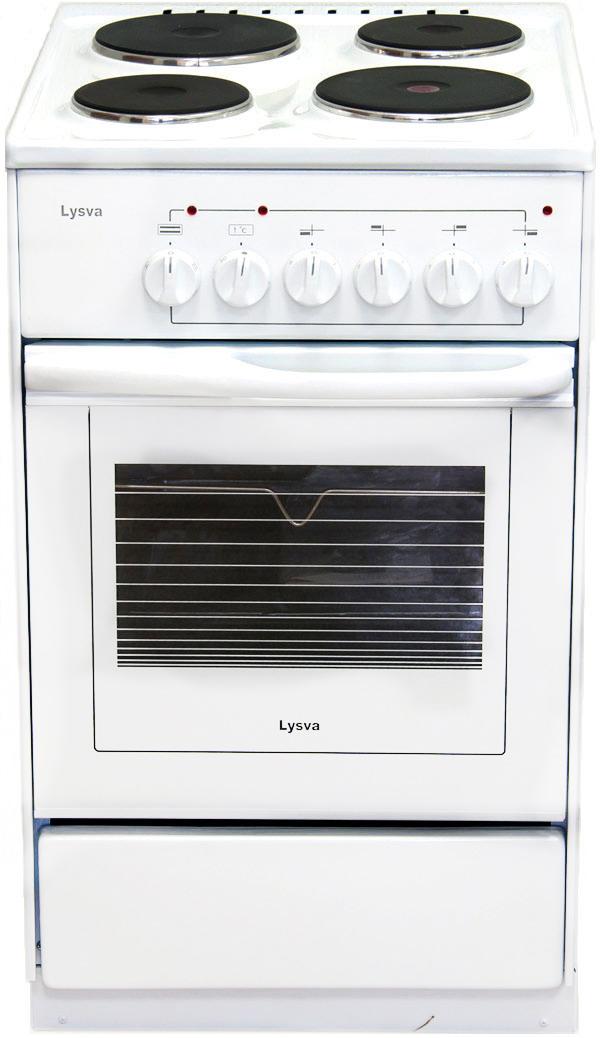 Плита Лысьва ЭП 4/1э03 М2С, электрическая, стеклянная крышка, белый Лысьва