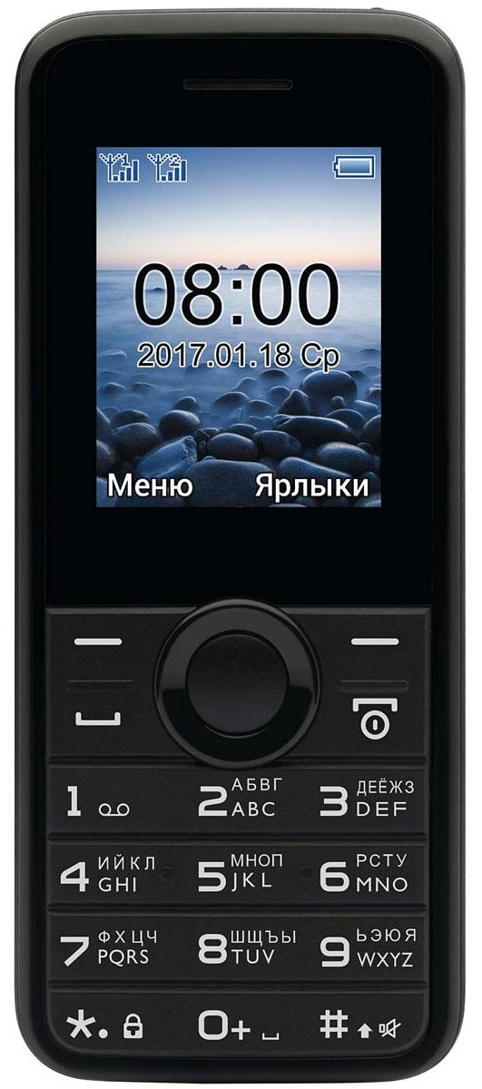 Мобильный телефон Philips E106, черный телефон