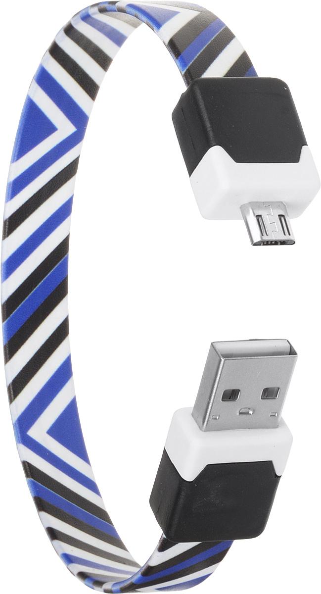 DVTech CB135 Black Blue, кабель microUSB/USB (0,25 м)