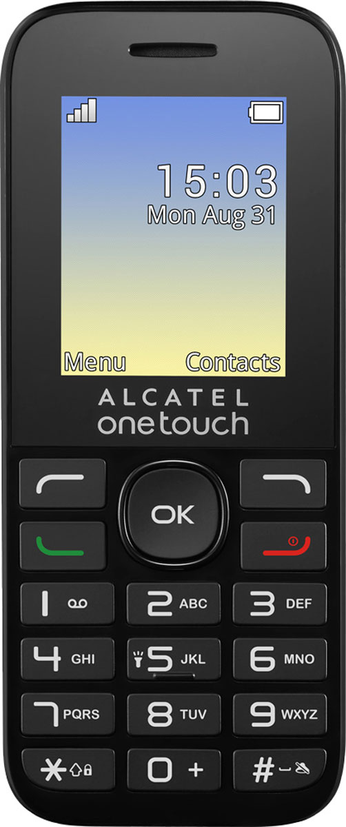 Мобильный телефон Alcatel OT1020D, белый телефон