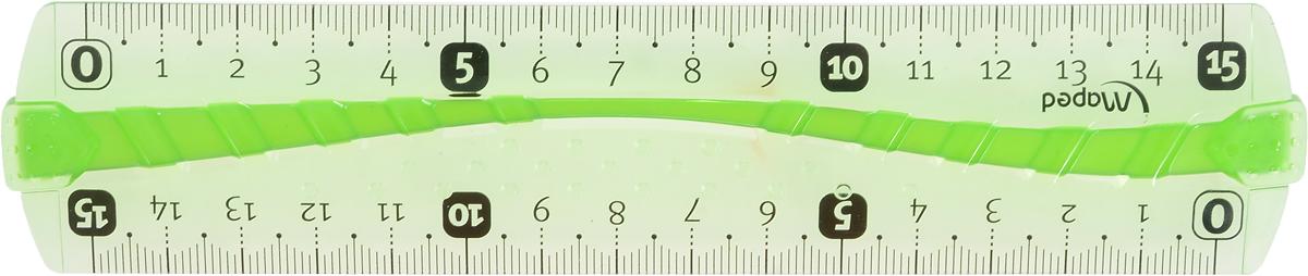 Maped Линейка Flex цвет салатовый 15 см линейка maped twist n flex неломающаяся цвет голубой 20 см