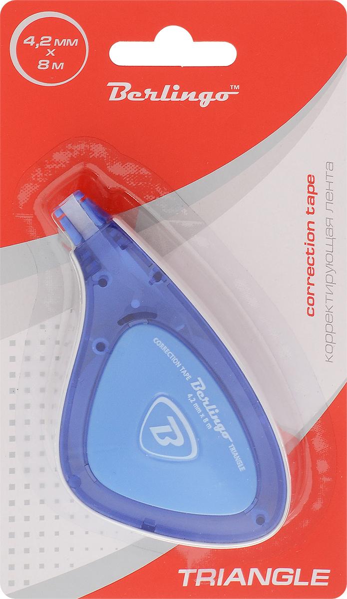 Berlingo Корректирующая лента Triangle цвет синий 4,2 мм х 8 м цена