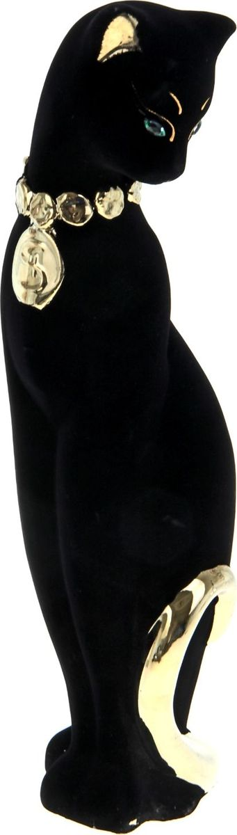 Копилка Керамика ручной работы Кошка Багира с долларом, 11 см х 12 см х 47 см копилка керамика ручной работы кошка с котенком 15 х 11 х 31 см