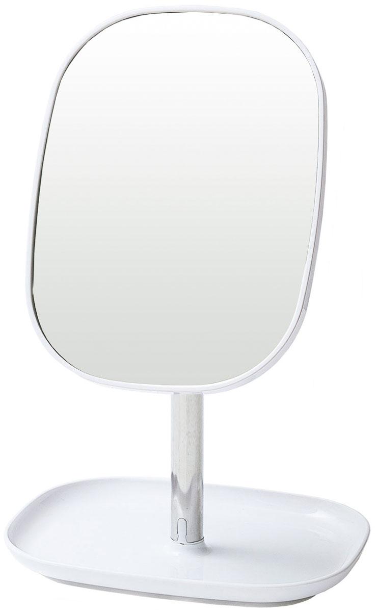 Фото - Зеркало косметическое Tatkraft Elba, с подставкой для украшений, цвет: серый металлик, 17,8 x 12,8 x 24 см держатель tatkraft elf двойной цвет серый металлик 8 x 2 5 x 14 см