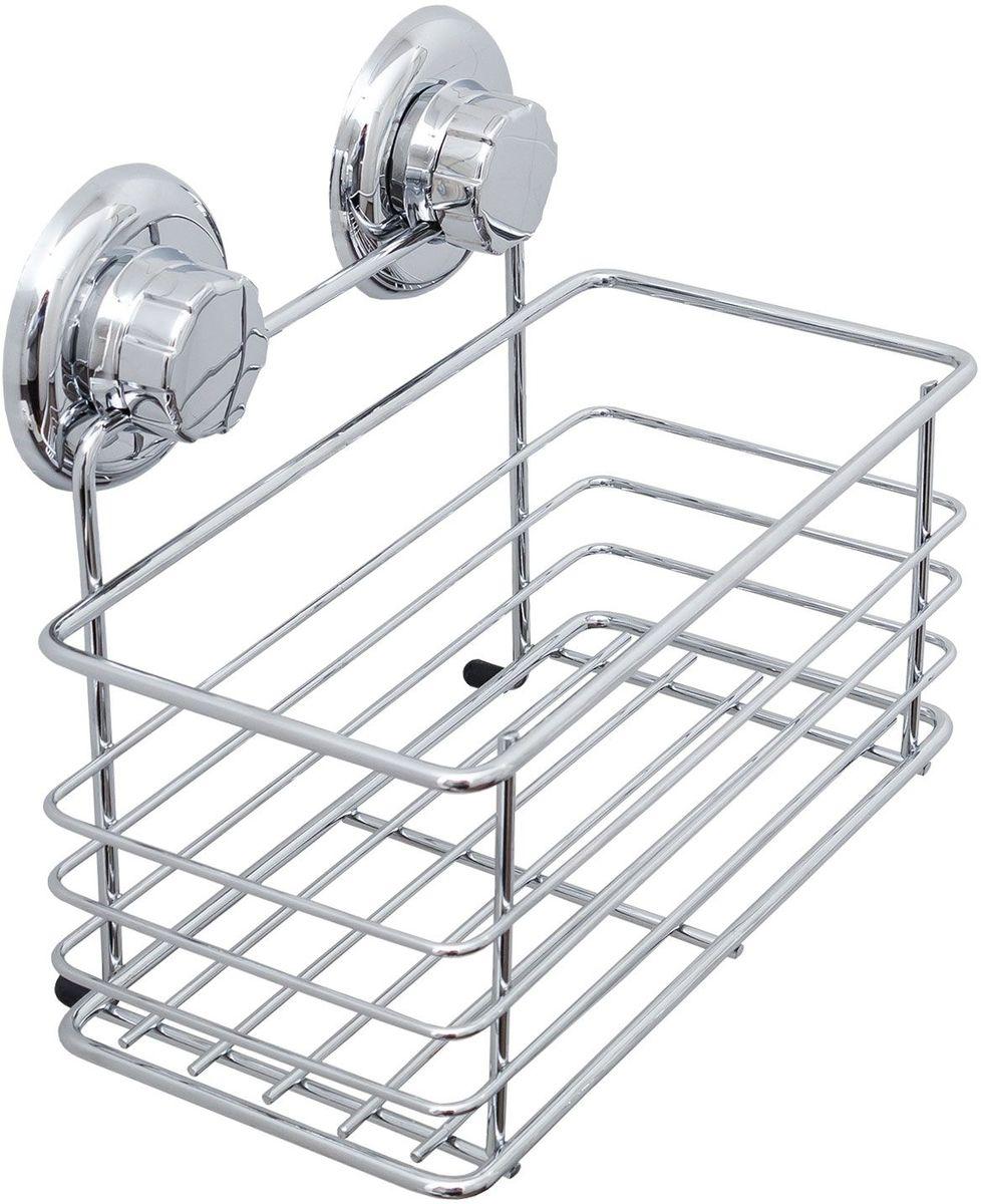 """Полка для ванной комнаты Tatkraft """"Mega Lock Vena"""", цвет: серый металлик"""