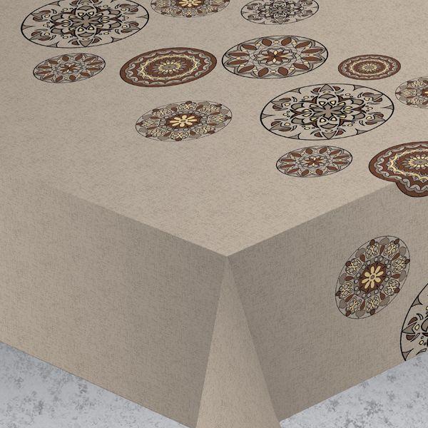 """Скатерть Protec Textil """"Alba. Вагнер"""", цвет: коричнево-серый, 140 х 220 см"""